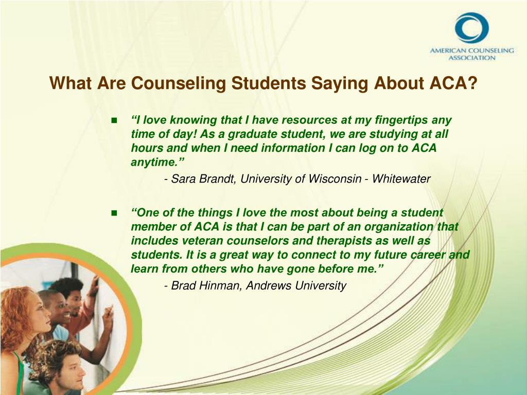 What Are Counseling Students Saying About ACA?