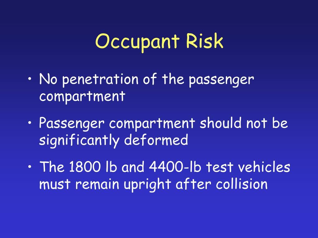 Occupant Risk