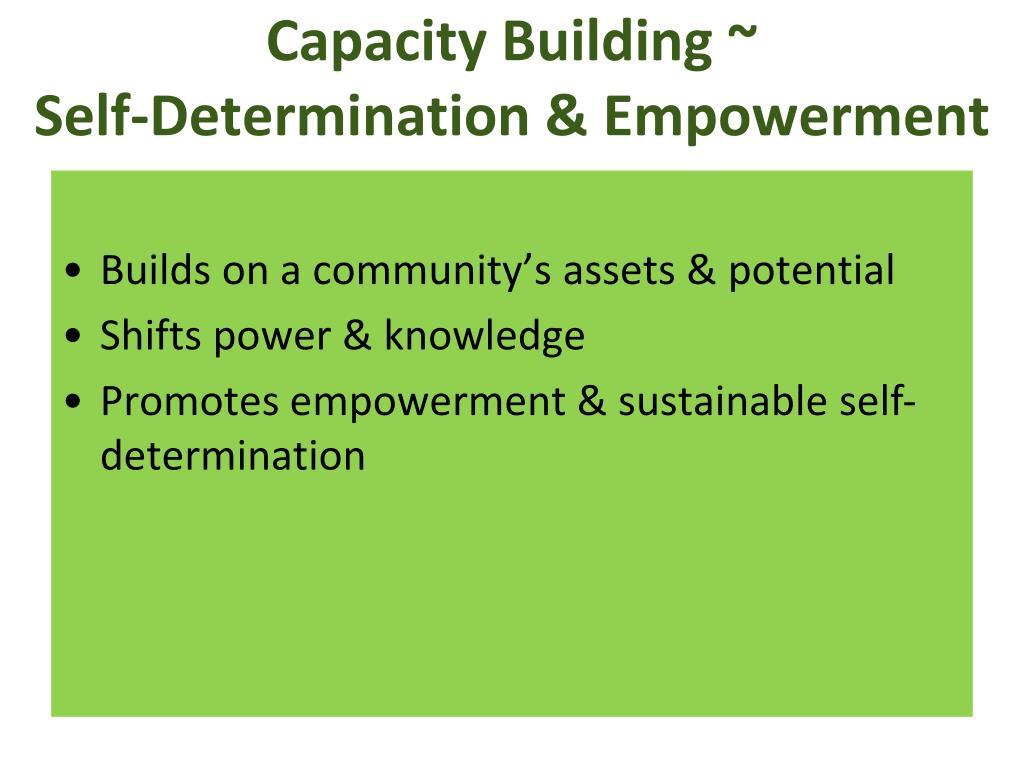 Capacity Building ~