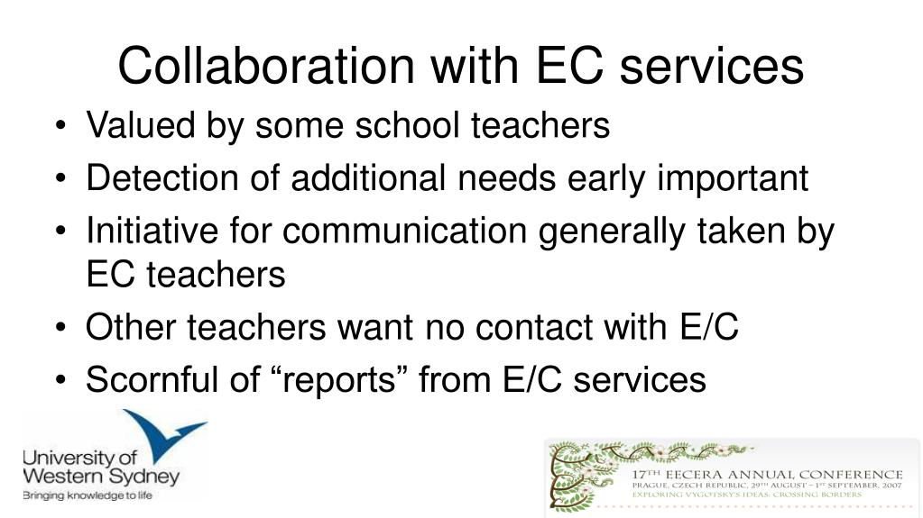 Collaboration with EC services