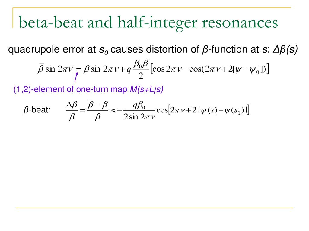 beta-beat and half-integer resonances