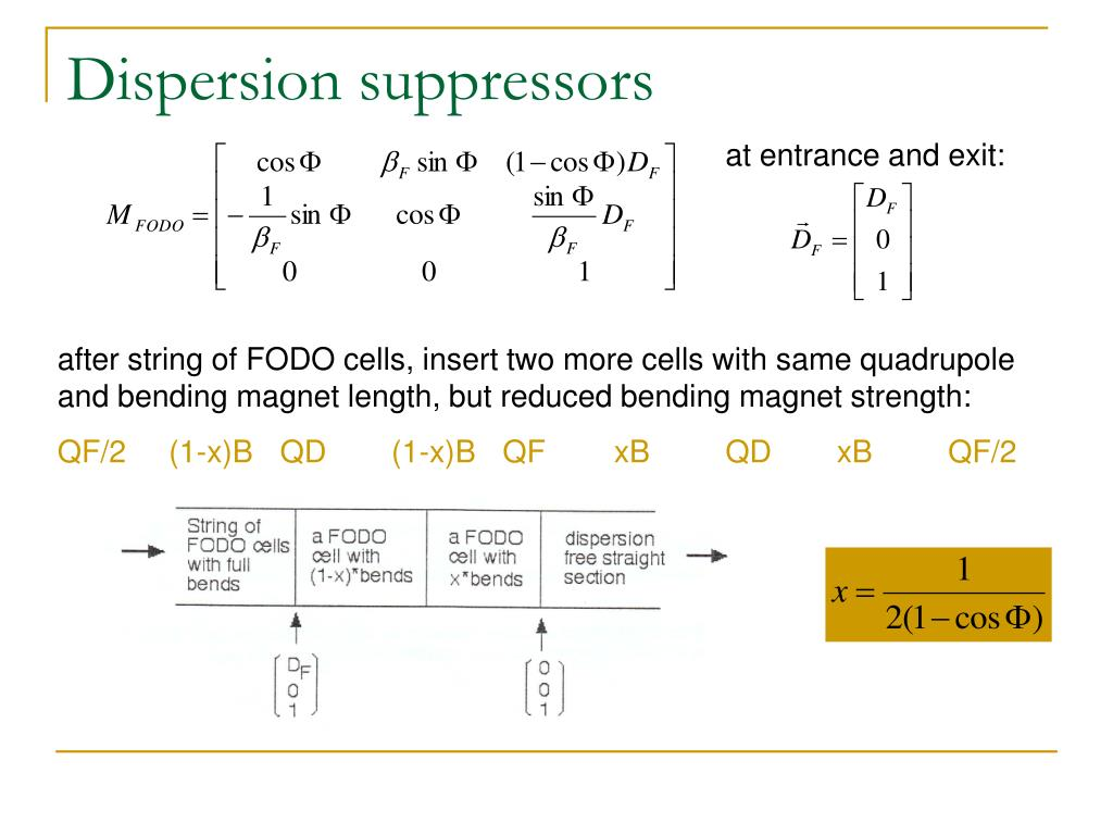 Dispersion suppressors