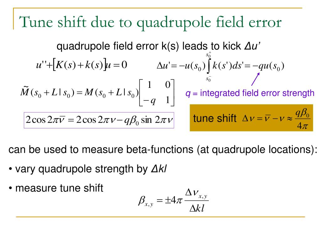 Tune shift due to quadrupole field error