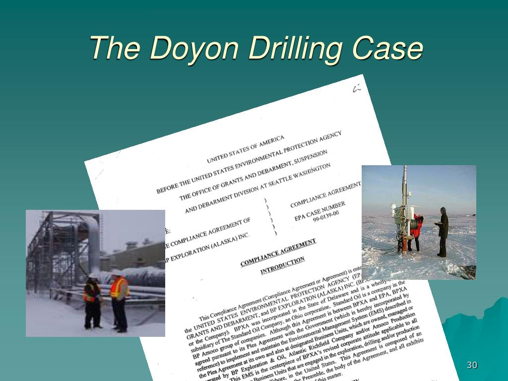 The Doyon Drilling Case