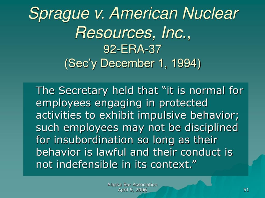 Sprague v. American Nuclear Resources, Inc