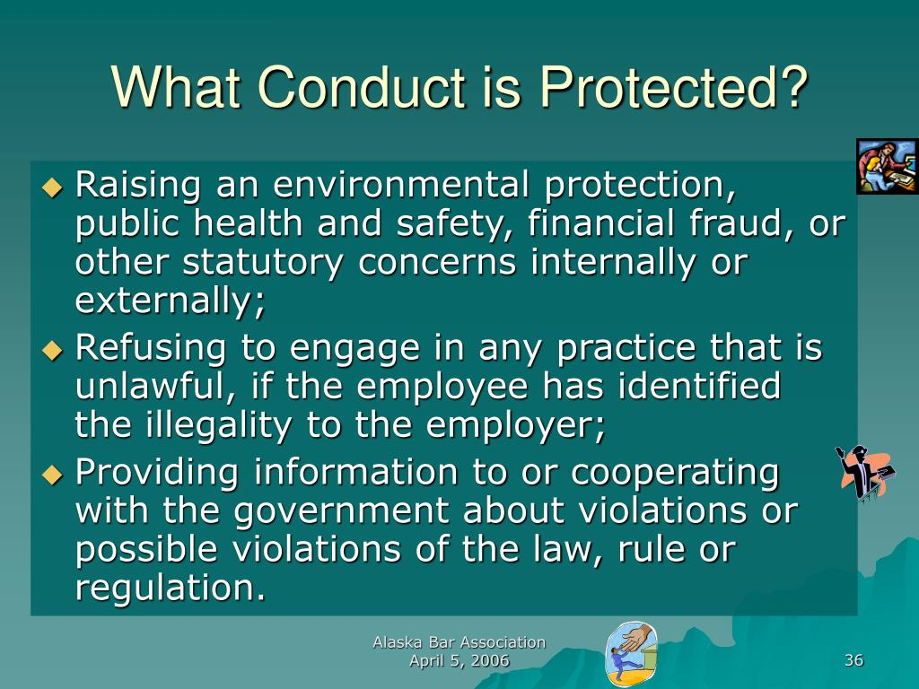 What Conduct is Protected?