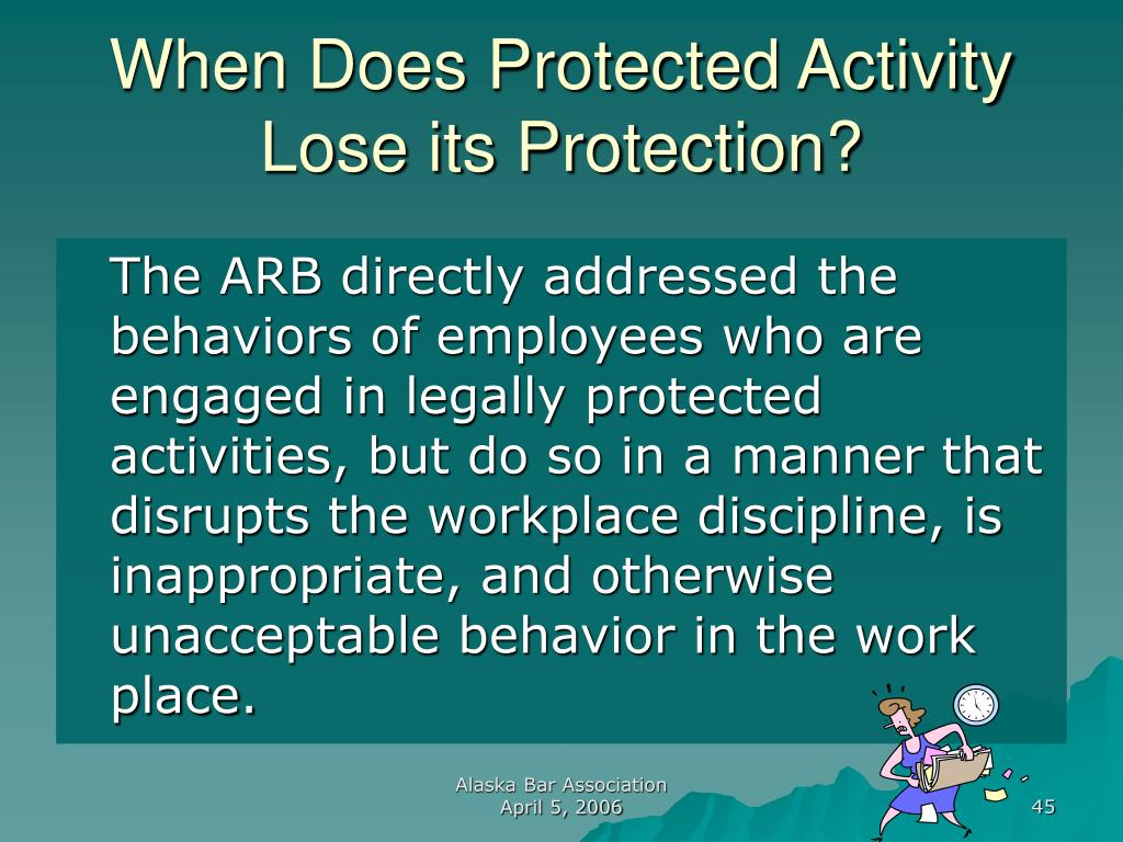 When Does Protected Activity