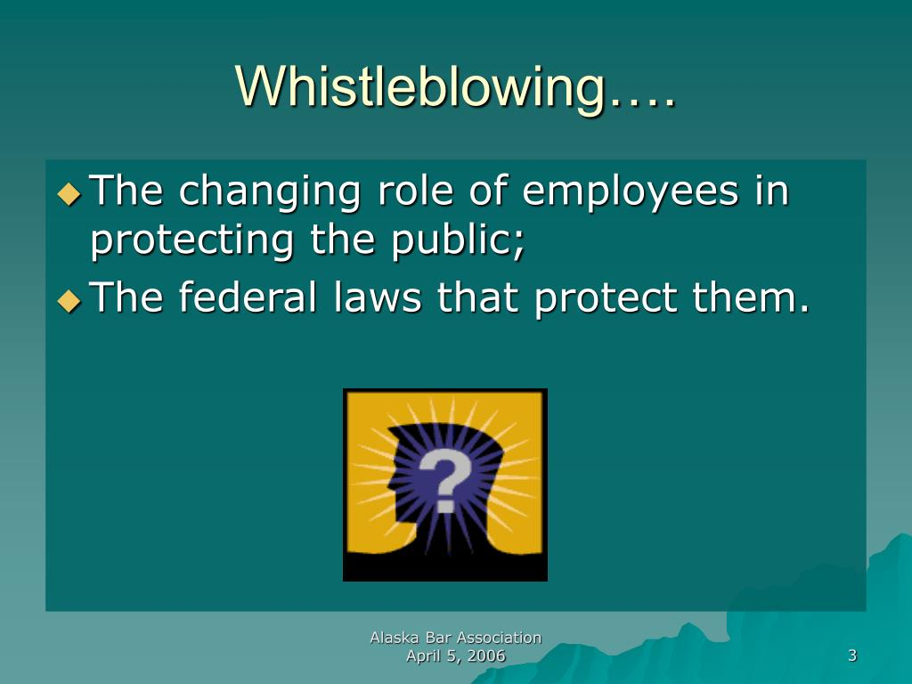 Whistleblowing….
