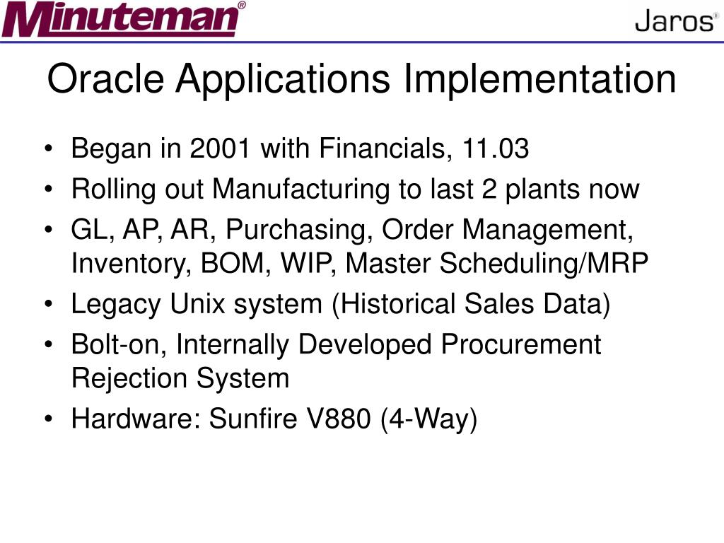 Oracle Applications Implementation