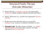 structural family therapy salvador minuchin