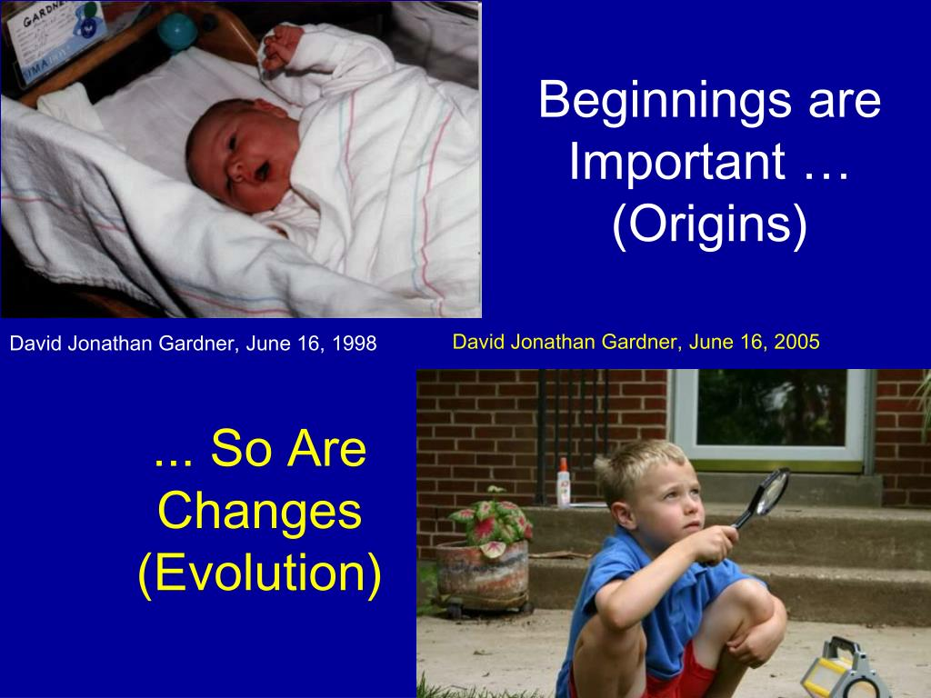 Beginnings are Important …