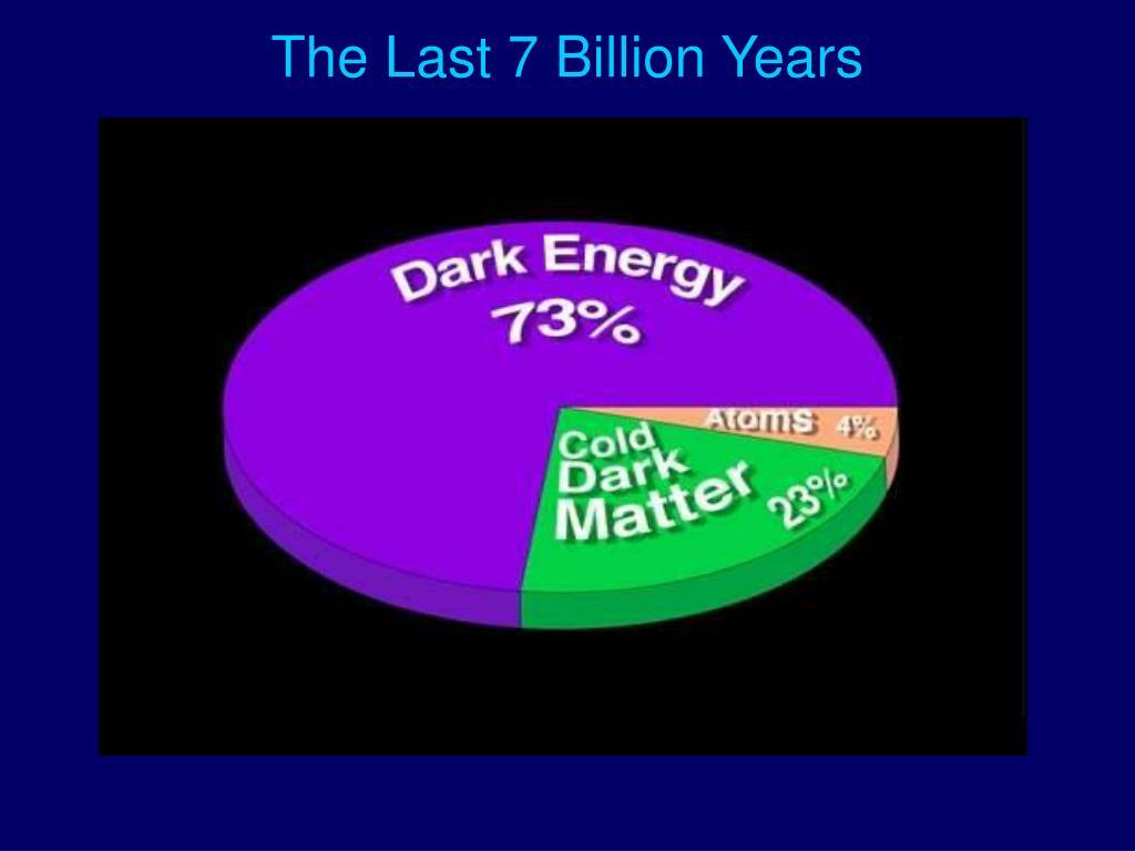 The Last 7 Billion Years