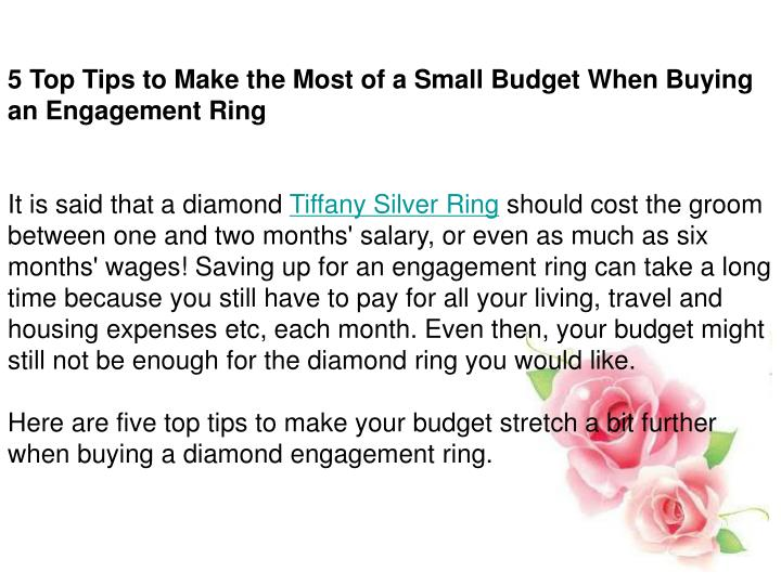 5 Top Tips to Make the Most of a Small Budget When Buying an Engagement Ring