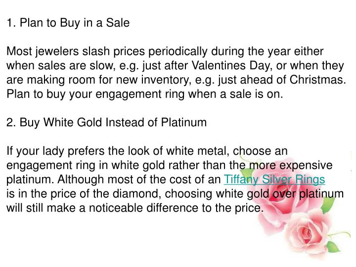 1. Plan to Buy in a Sale
