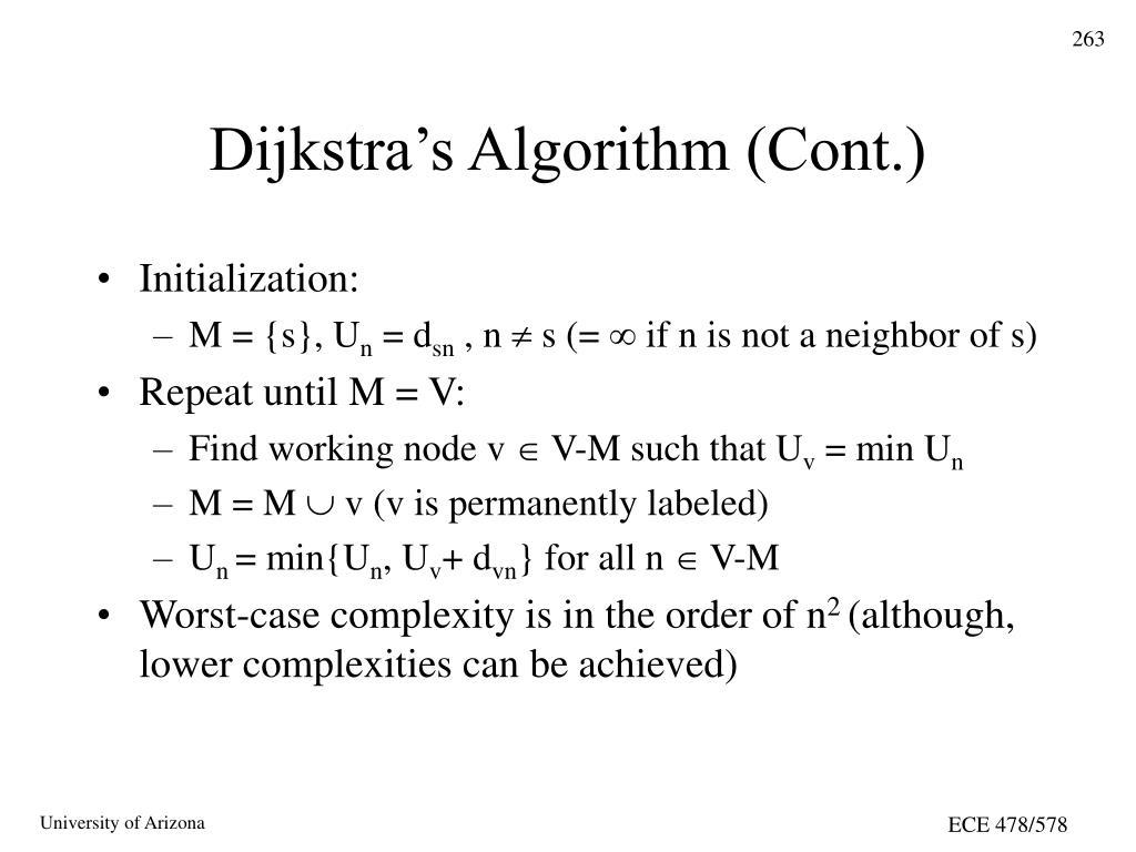 Dijkstra's Algorithm (Cont.)