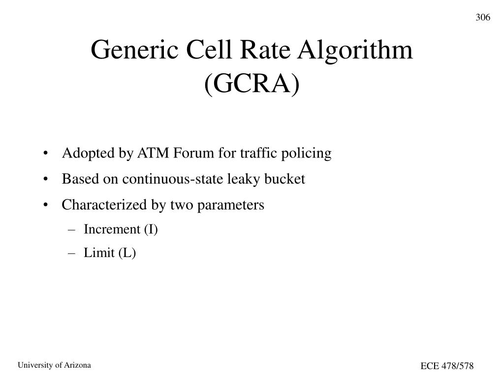 Generic Cell Rate Algorithm (GCRA)
