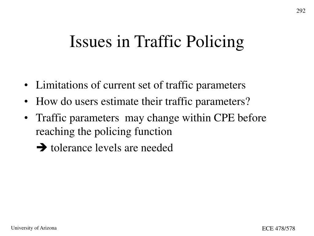 Issues in Traffic Policing