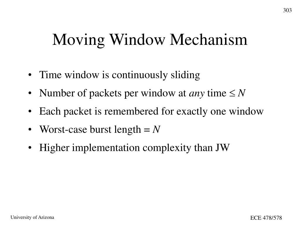Moving Window Mechanism
