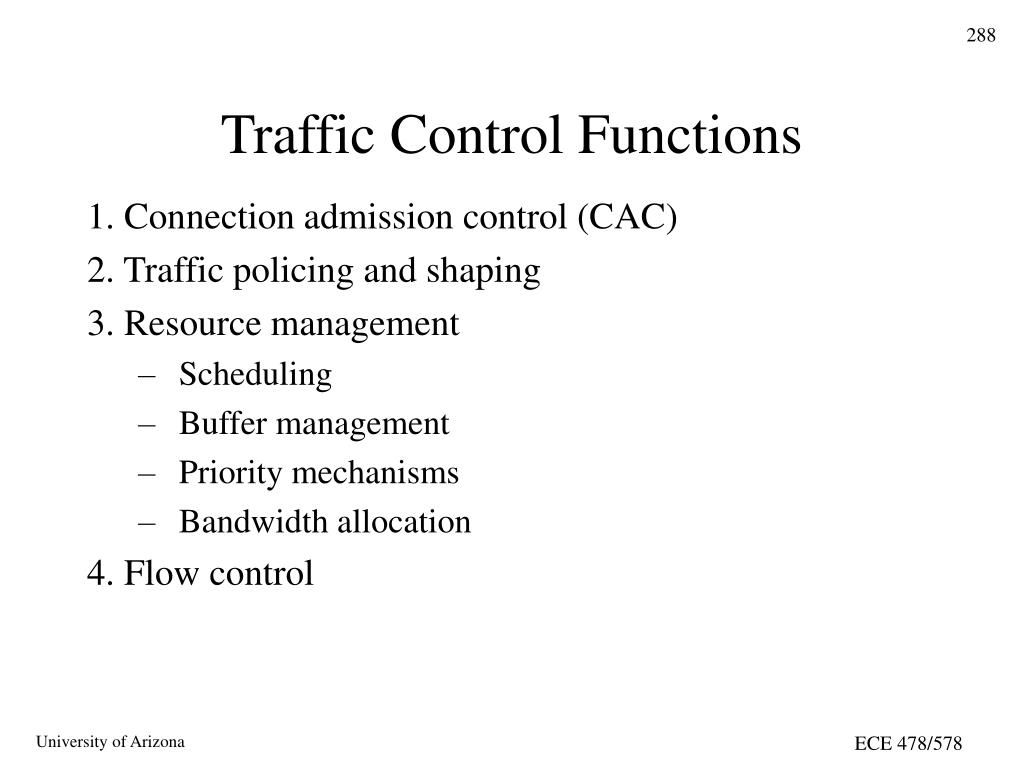 Traffic Control Functions