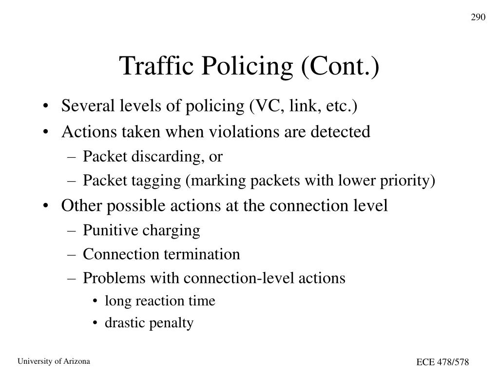 Traffic Policing (Cont.)