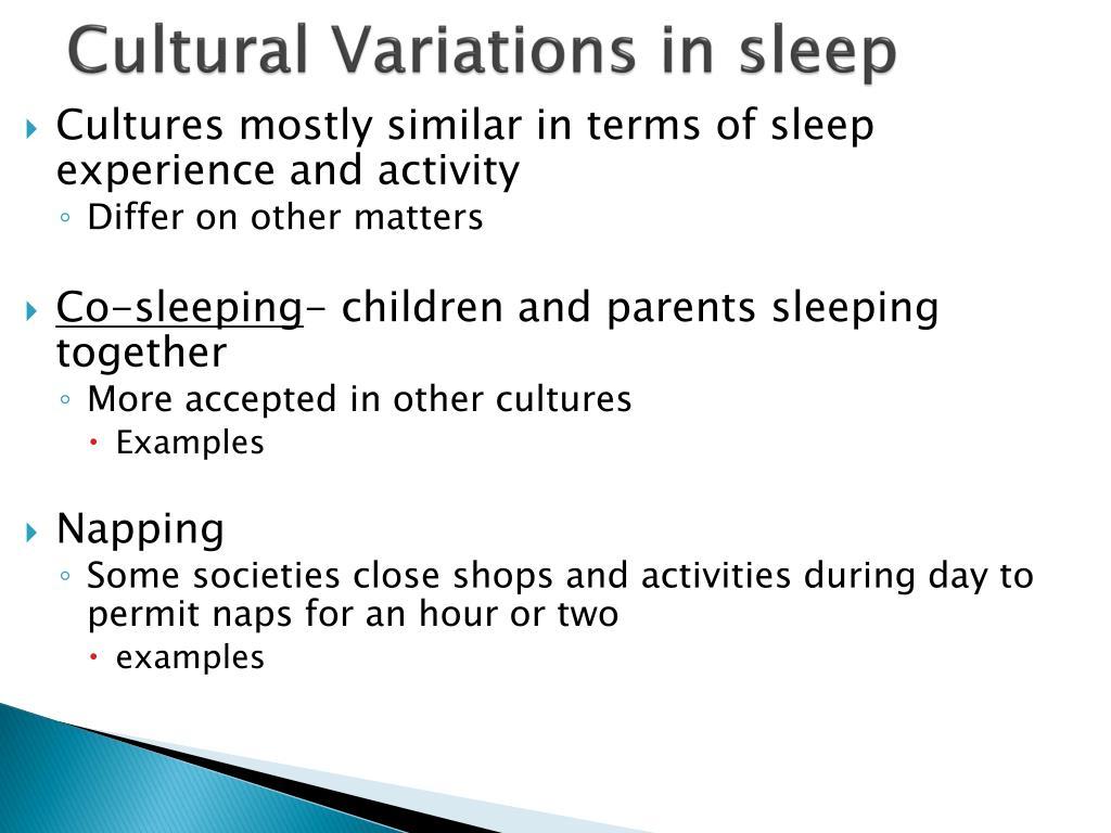Cultural Variations in sleep