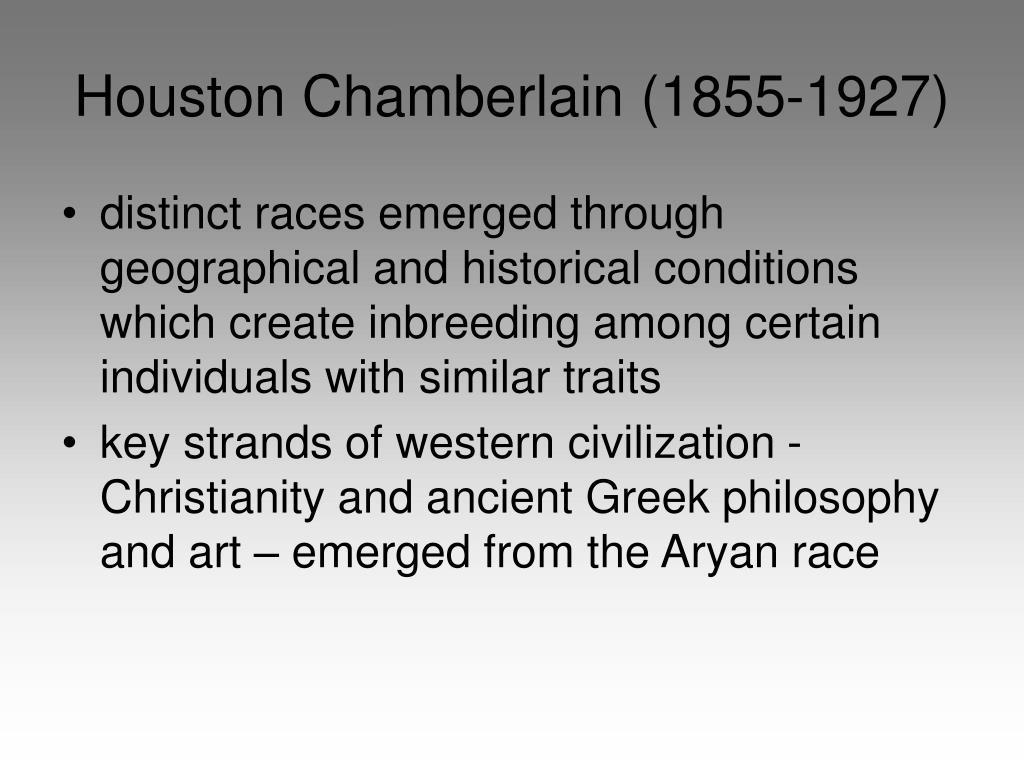 Houston Chamberlain (1855-1927)