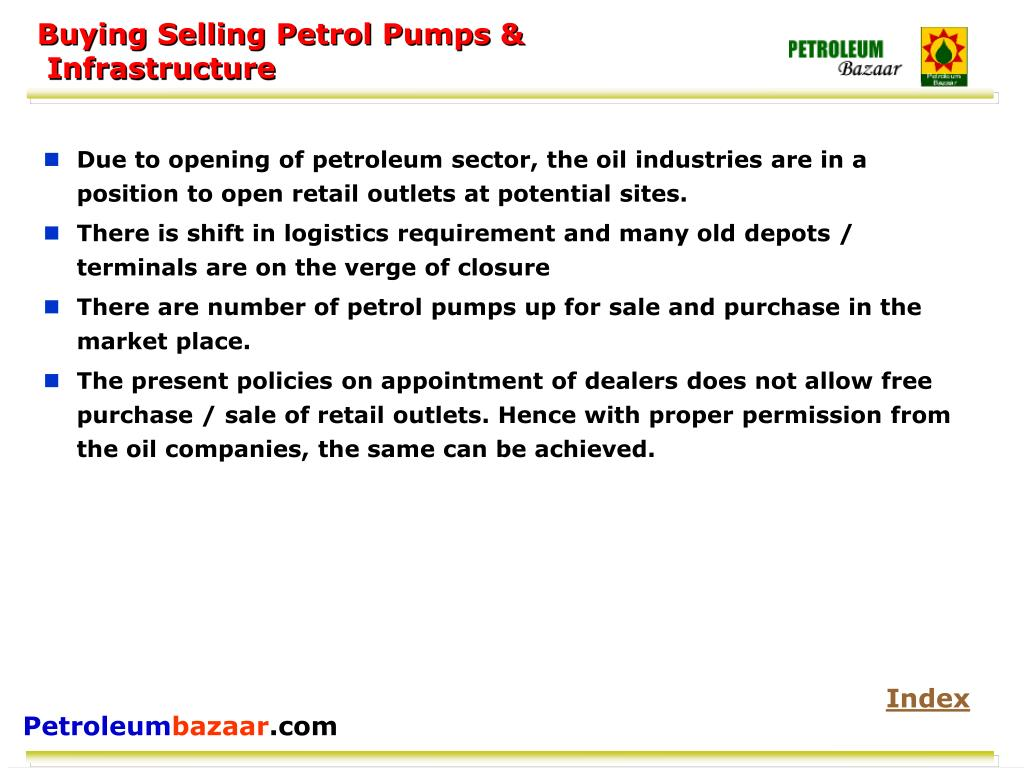 Buying Selling Petrol Pumps &