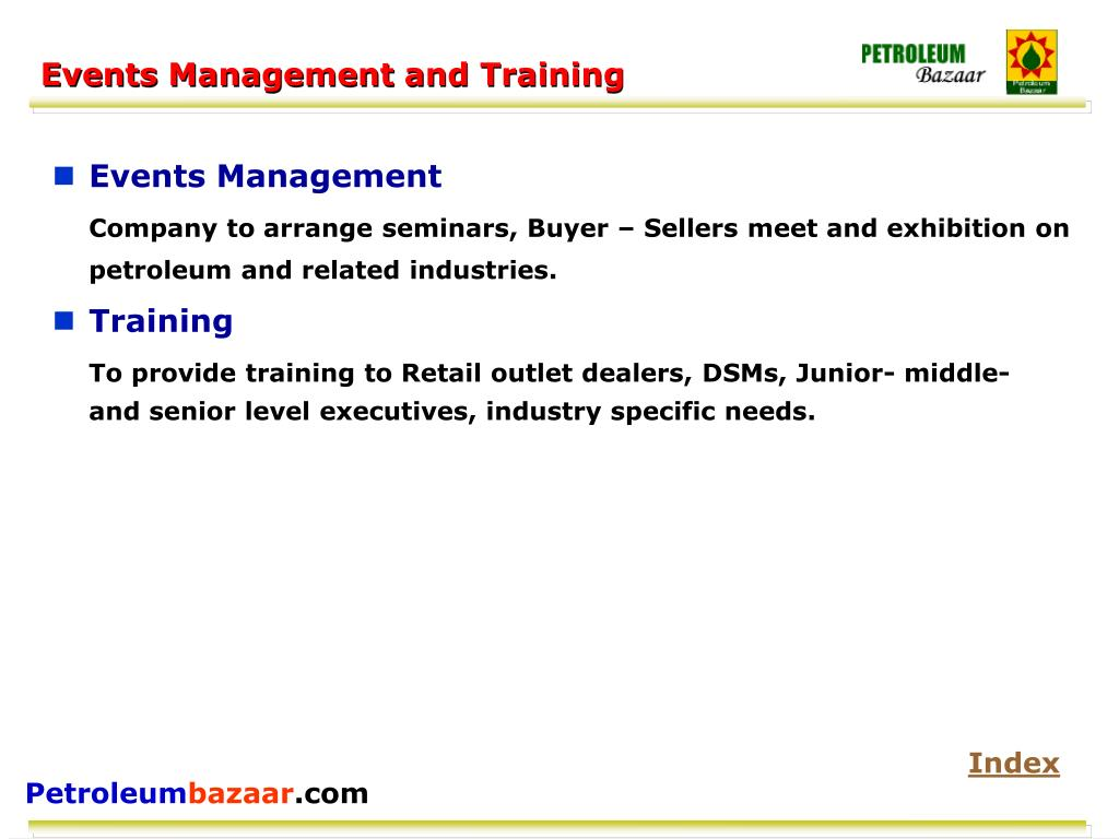 Events Management and Training