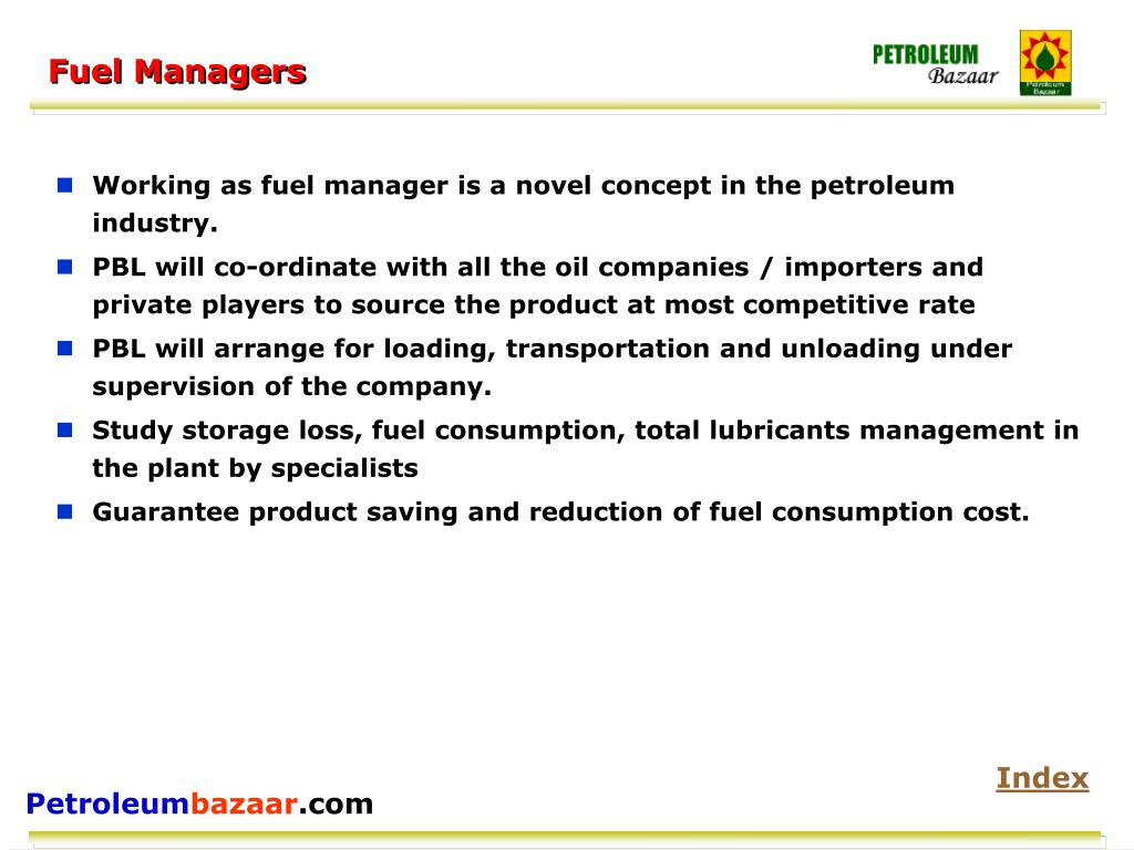 Fuel Managers