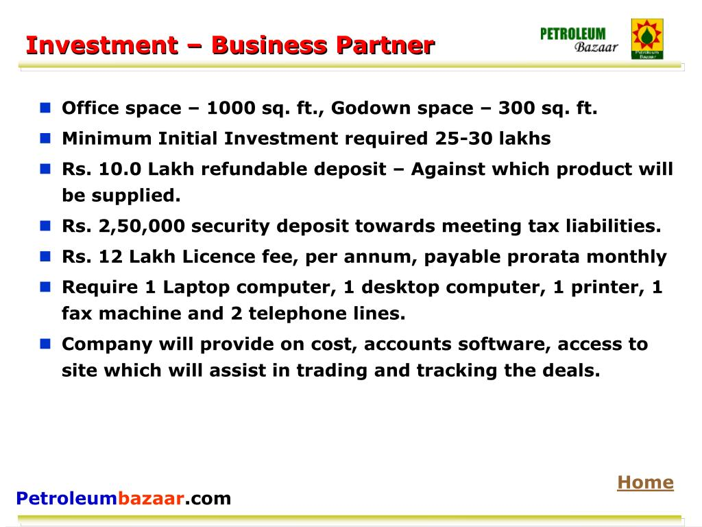 Investment – Business Partner