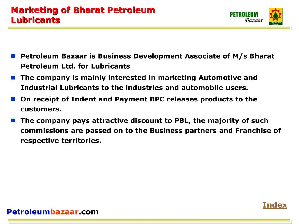 Marketing of Bharat Petroleum
