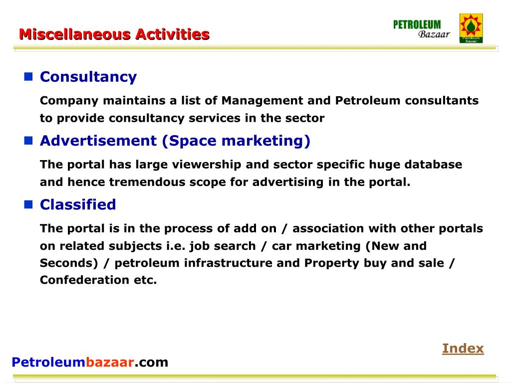 Miscellaneous Activities