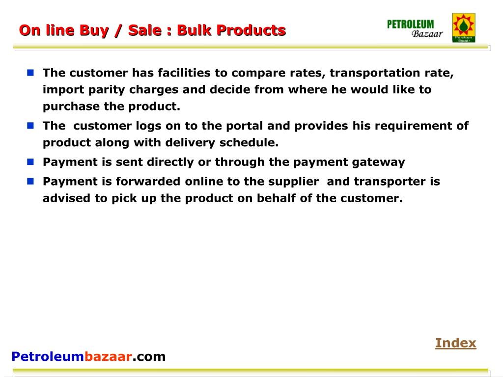 On line Buy / Sale : Bulk Products