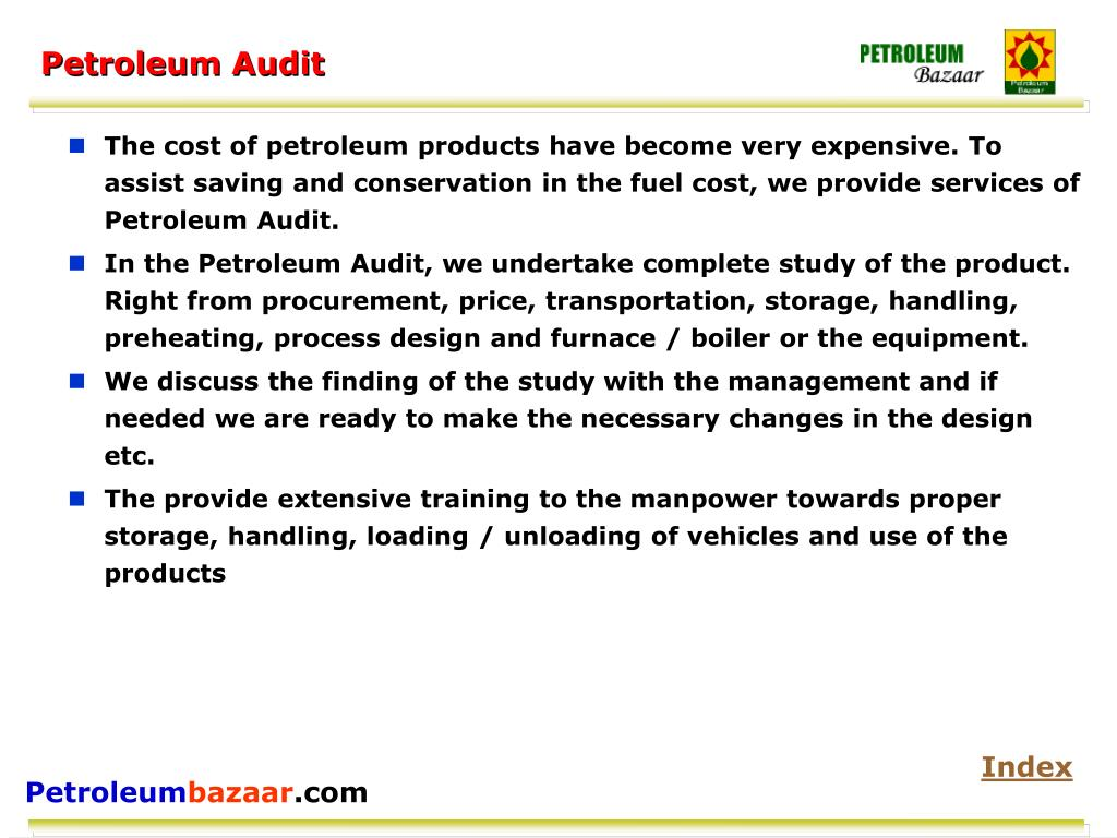 Petroleum Audit