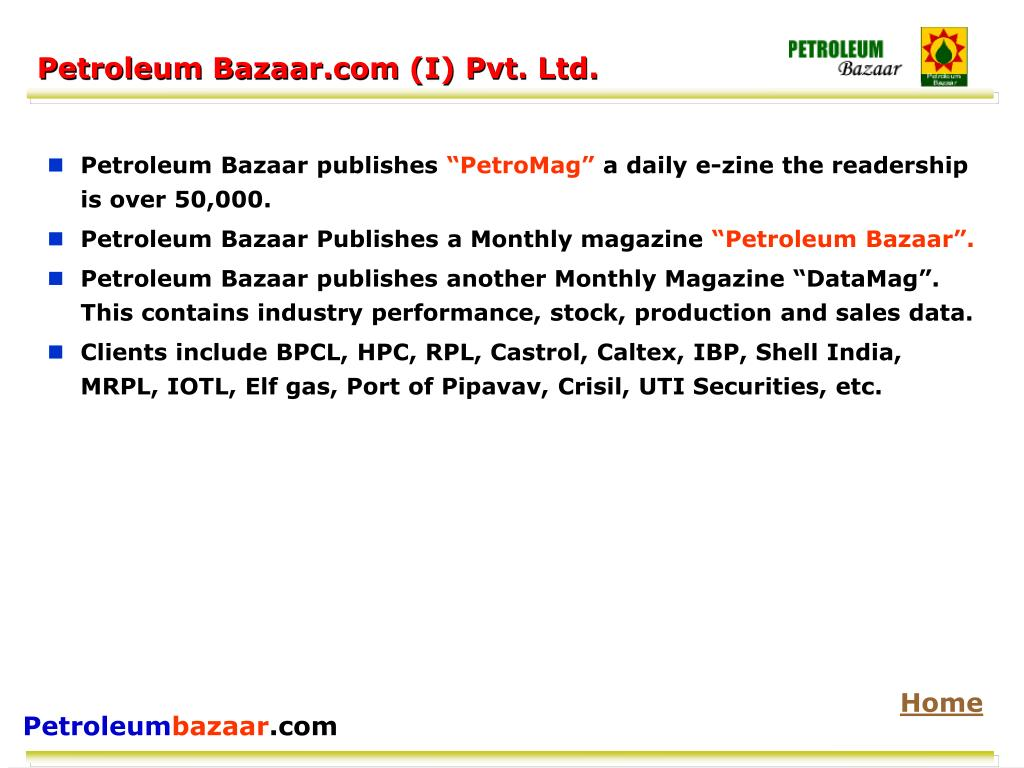 Petroleum Bazaar.com (I) Pvt. Ltd.
