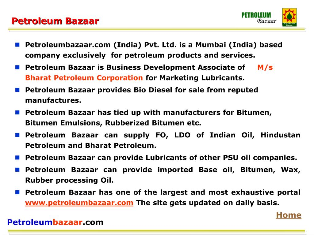 Petroleum Bazaar