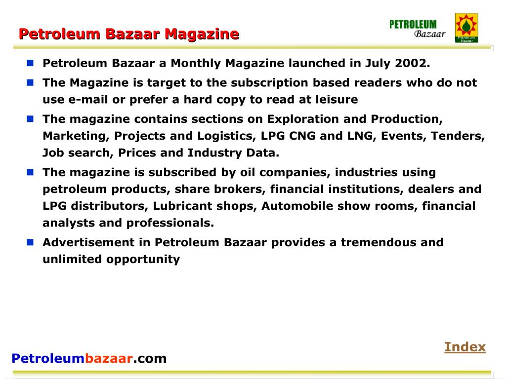 Petroleum Bazaar Magazine