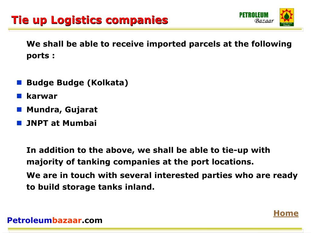 Tie up Logistics companies
