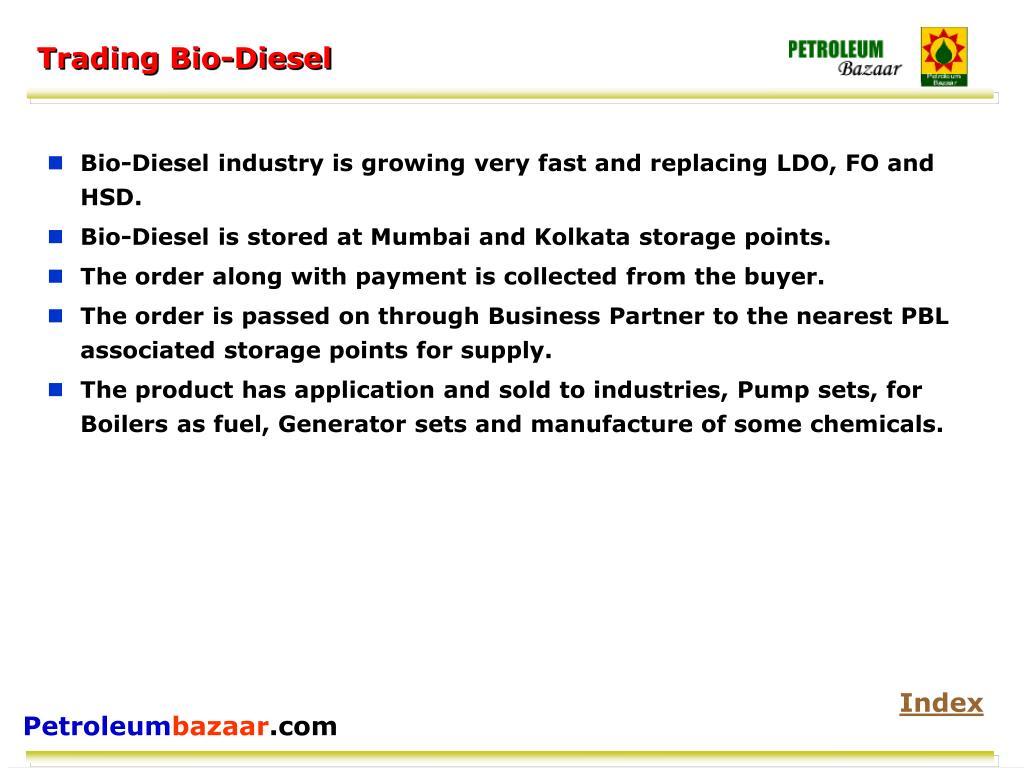Trading Bio-Diesel