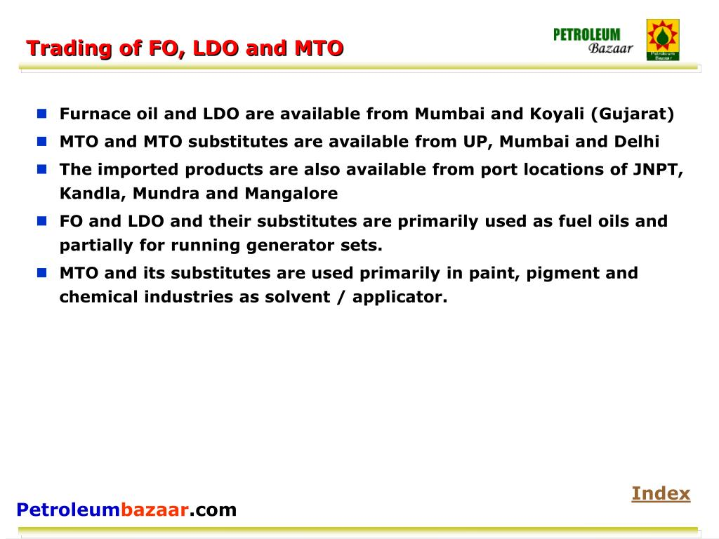Trading of FO, LDO and MTO