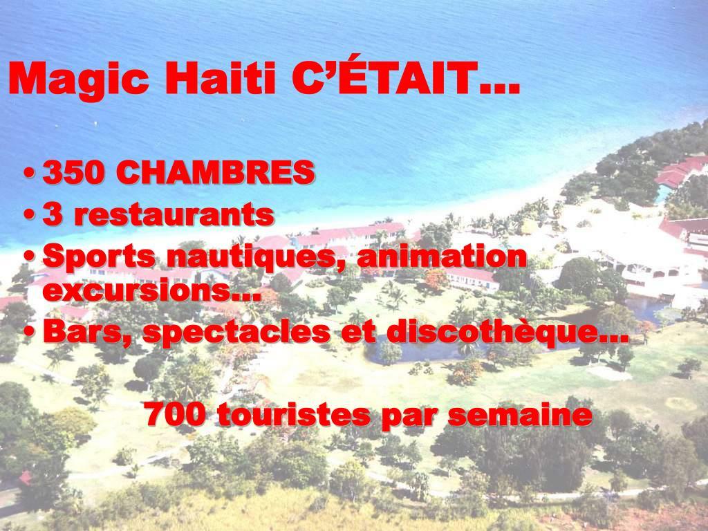 Magic Haiti C'ÉTAIT…