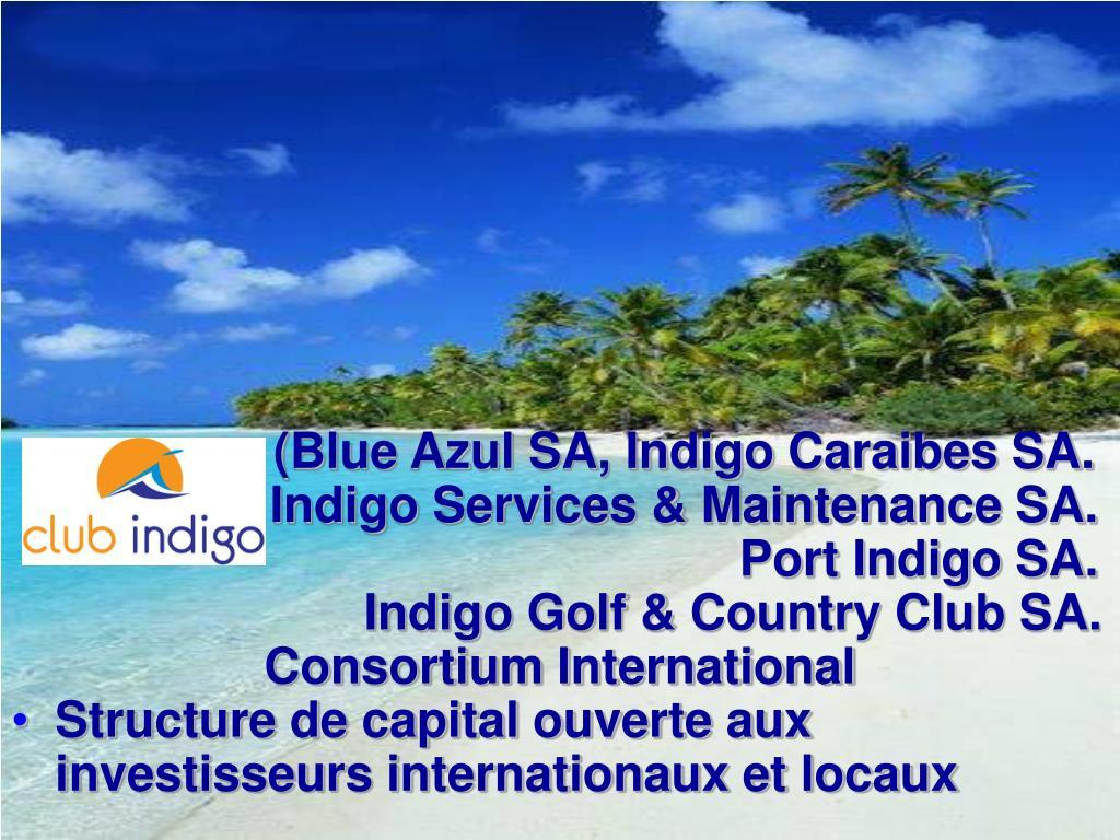 (Blue Azul SA, Indigo Caraibes SA.