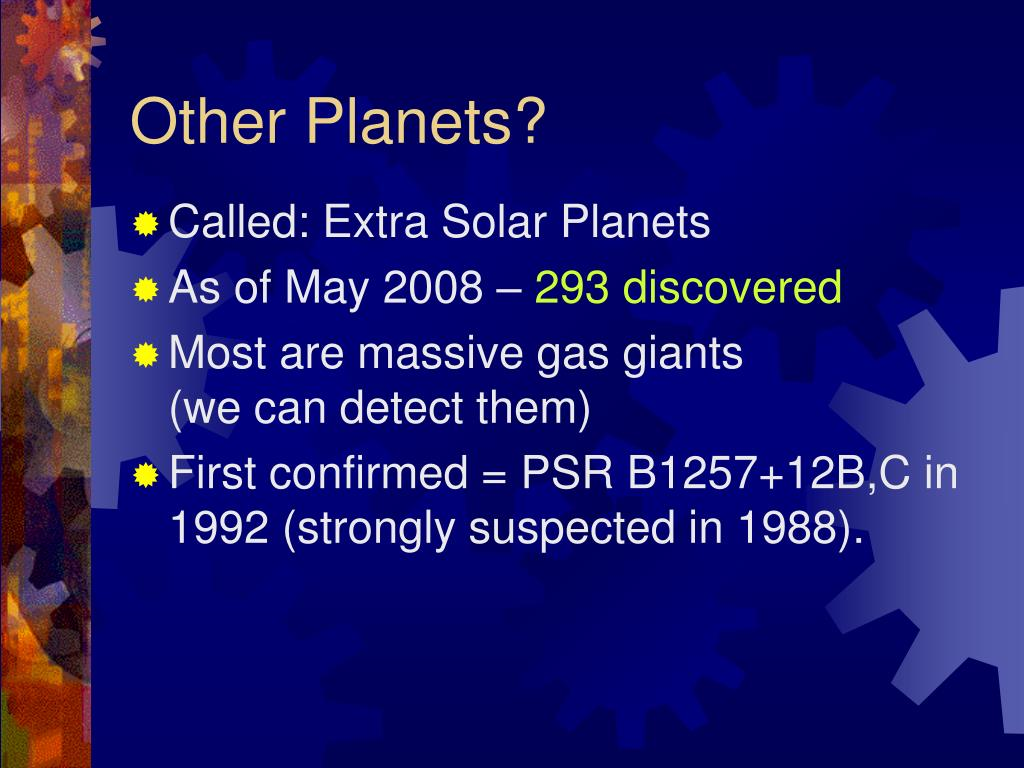 Other Planets?