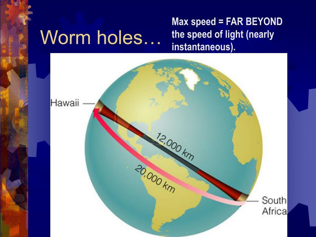 Worm holes…