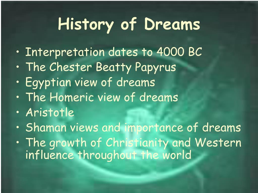 History of Dreams
