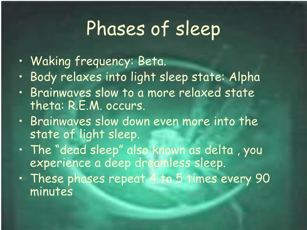 Phases of sleep