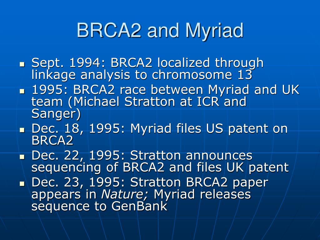 BRCA2 and Myriad