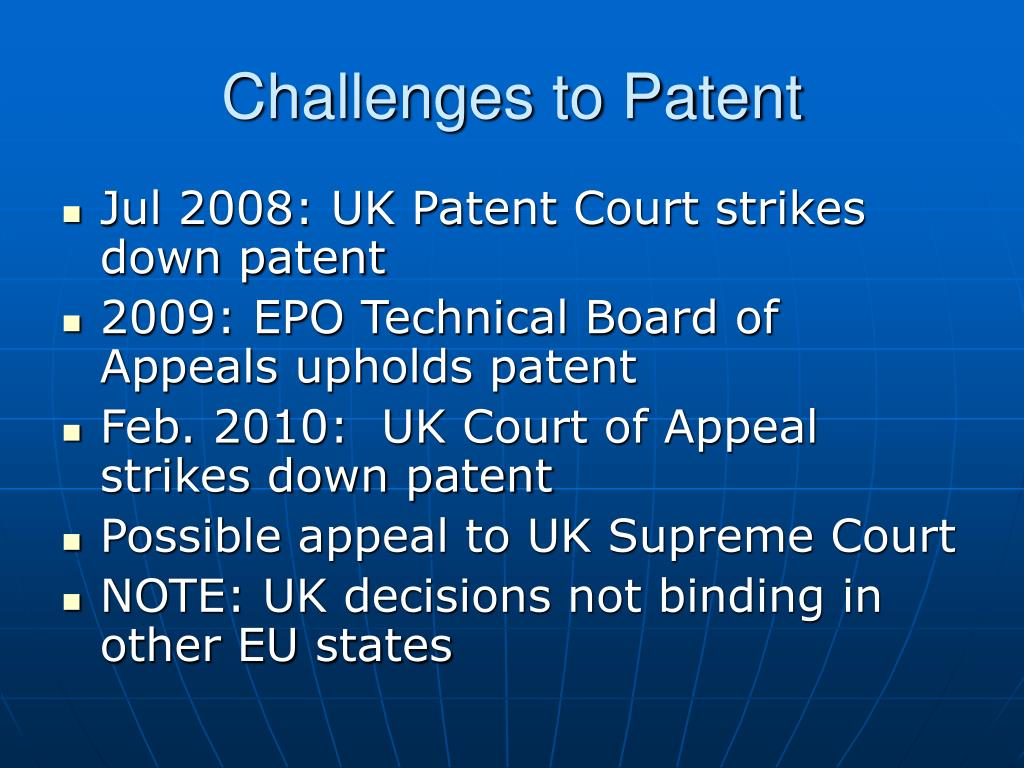 Challenges to Patent