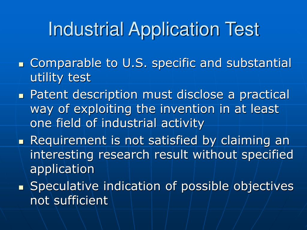 Industrial Application Test