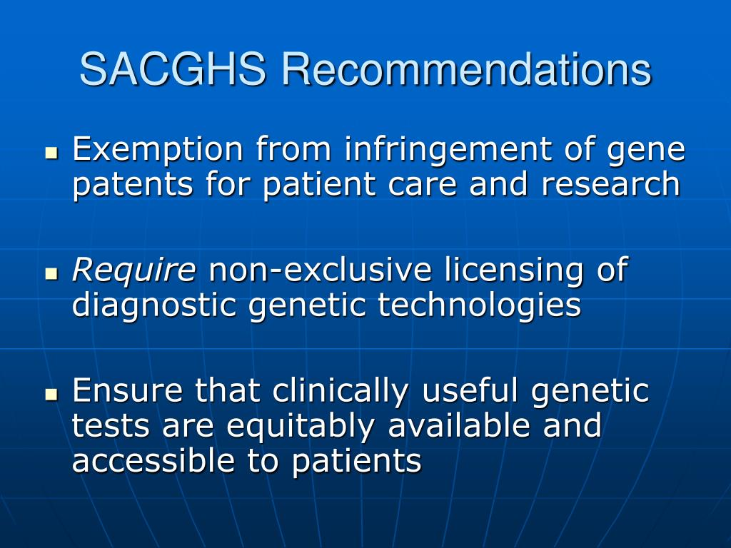 SACGHS Recommendations